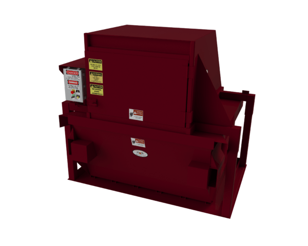2 YARD ON CASTERS CRAM-A-LOT CV VERTICAL COMPACTOR