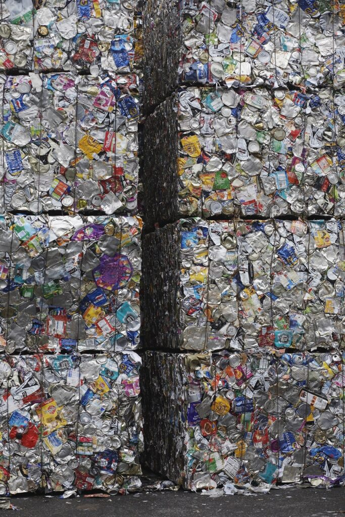 Stakes Of Compacted Garbage